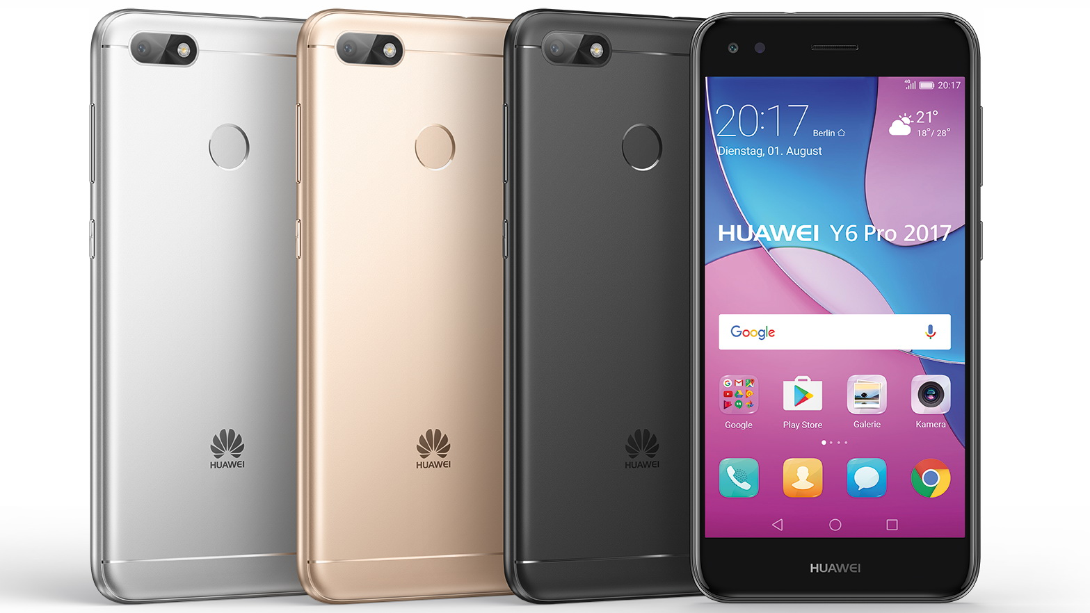 huawei y6 pro 2017 5 zoll hd smartphone f r 200 euro. Black Bedroom Furniture Sets. Home Design Ideas