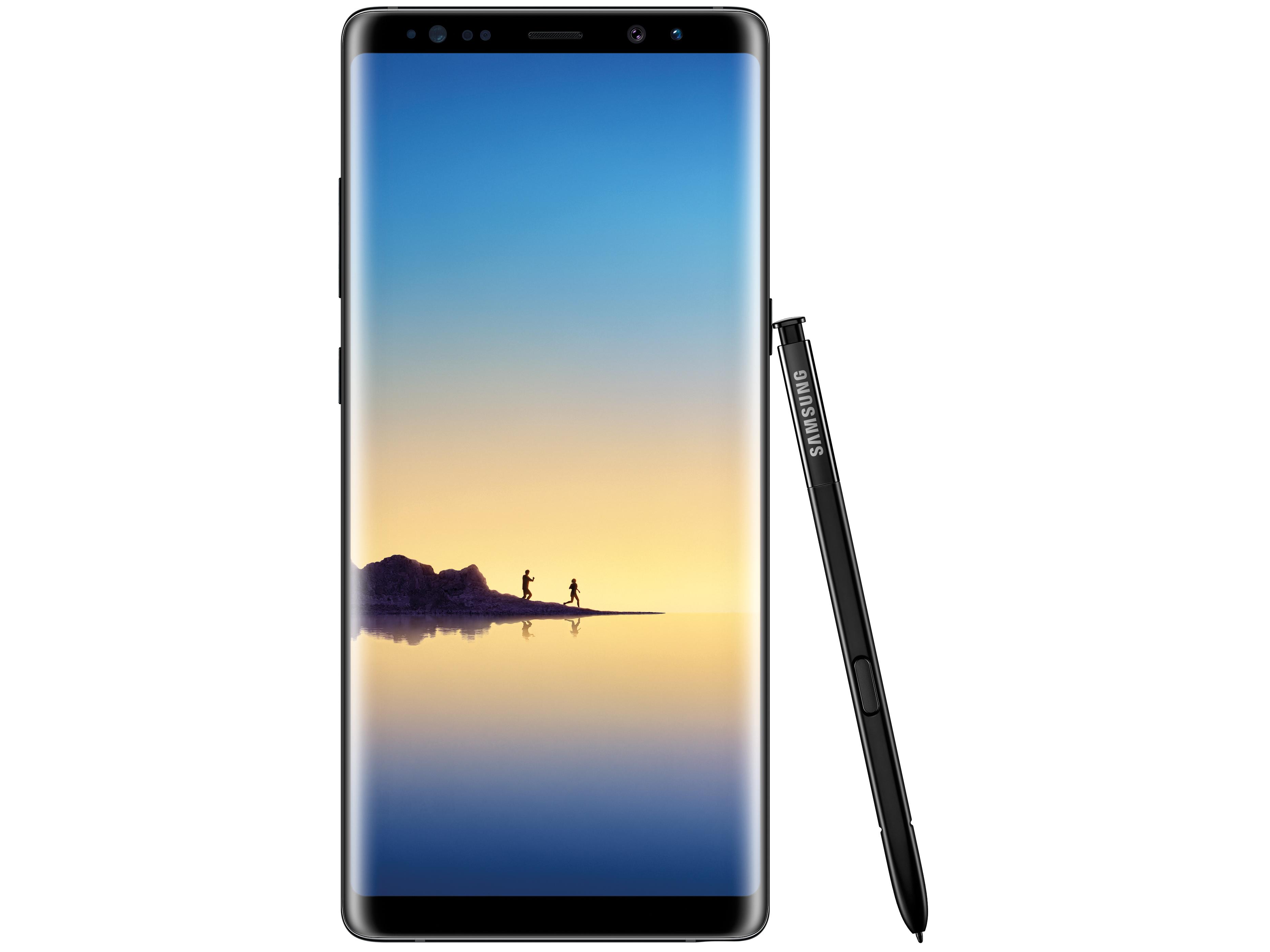 4 zu 3 Samsung Galaxy Note8 Pen N950F Black Front