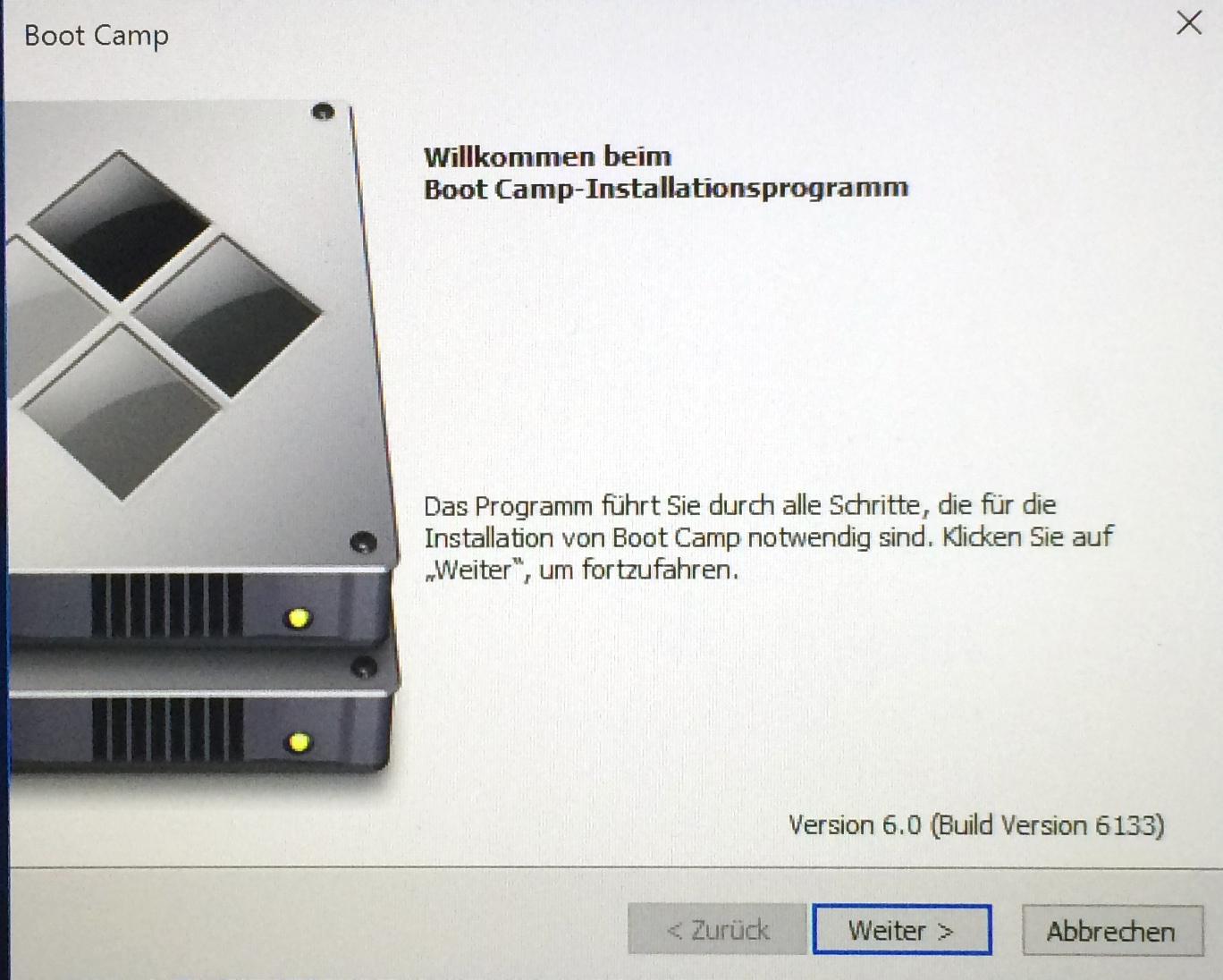 bootcamp mac installieren