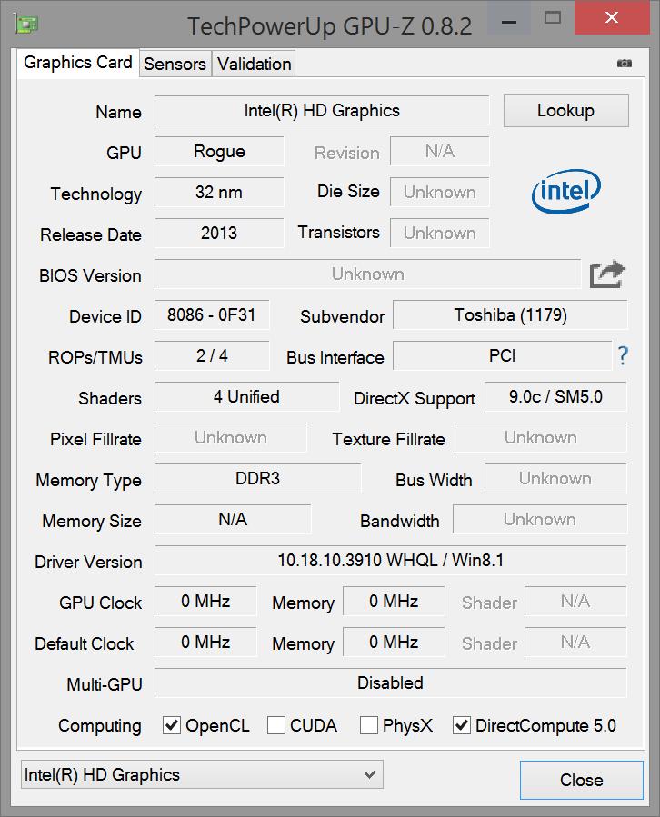 Dell venue 8 pro intel hd graphics