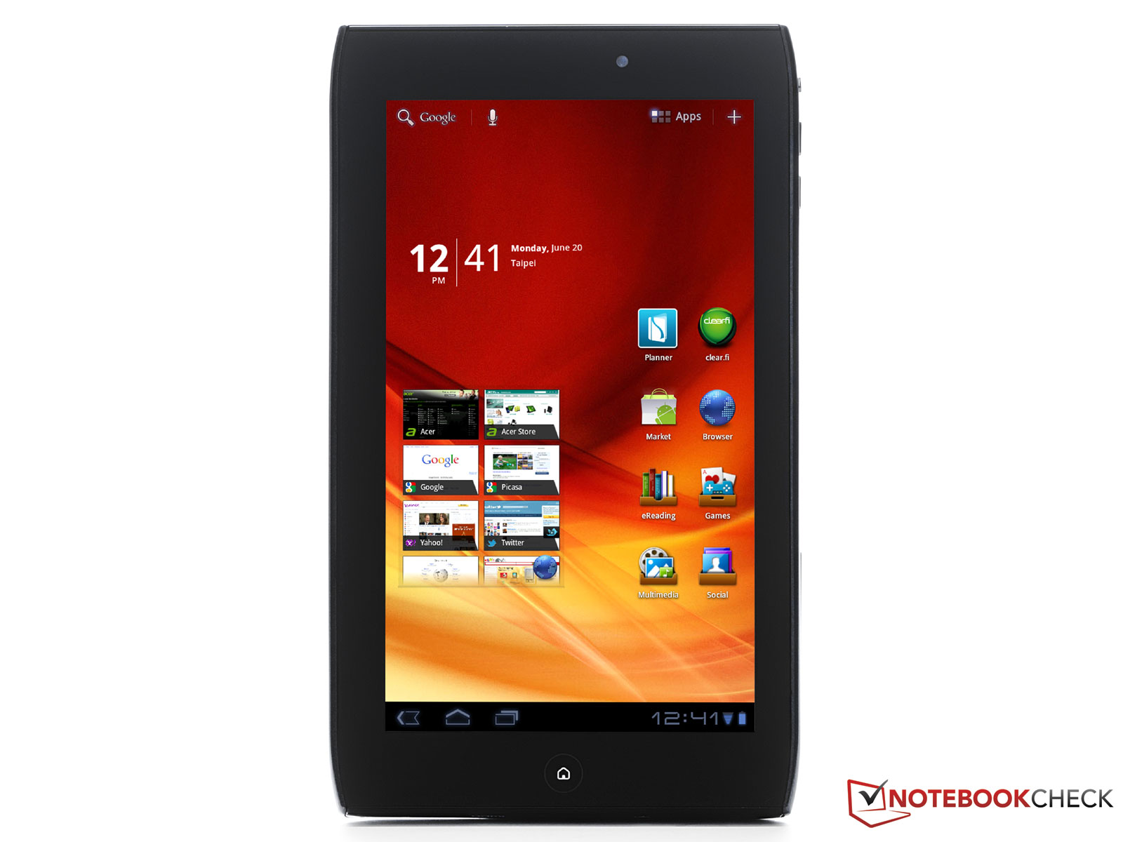 Test Acer Iconia Tab A100 Tablet/MID