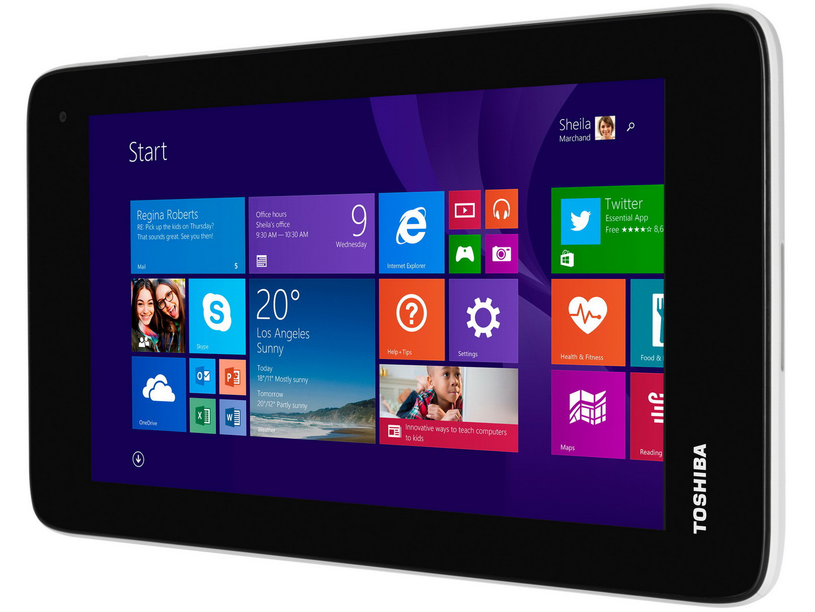 toshiba zeigt g nstiges 7 zoll tablet encore mini mit windows news. Black Bedroom Furniture Sets. Home Design Ideas