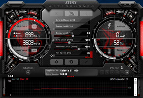 MSI Afterburner mit Overclocking-Taktraten