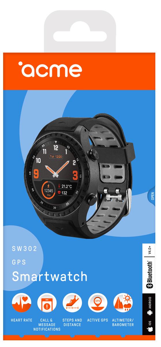 Acme Sw302 Gps Smartwatch Mit H 246 Henmesser Und Barometer