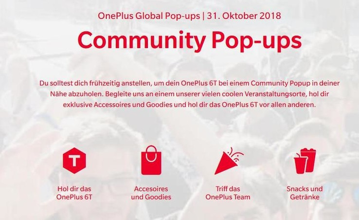 Oneplus 6t ab 31 oktober in den pop up stores for Torneria tortona