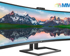 Philips 439P9H: Gewaltiger 43 Zoll SuperWide Curved-Monitor.
