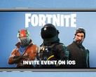 Fortnite Battle Royale: Einladung zum iOS-Event.