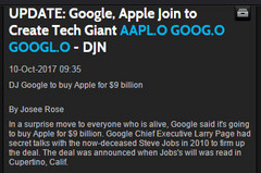 Sensation: Google kauft Apple für 9 Milliarden Dollar!