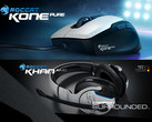 Jetzt auch in Weiß: Roccat Khan Aimo 7.1 RGB Gaming-Headset und Kone Pure Owl-Eye Optical Gaming-Maus.