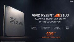 AMD Ryzen 3 3100 (Quelle: AMD)