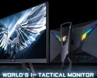 Gigabyte Aorus FI27Q Tactical Gaming Monitor mit 165 Hz und 2K.