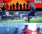 Game-Charts: Red Dead Redemption 2, FIFA 19 und Battlefield V die Top-Games.