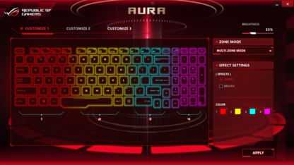 Die Asus-Aura-Software...