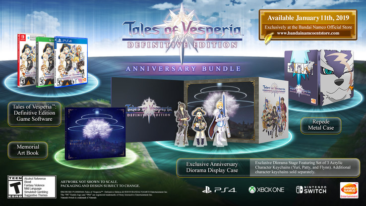 Tales of Vesperia: Definitive Edition Anniversary Bundle (Quelle: BANDAI NAMCO)
