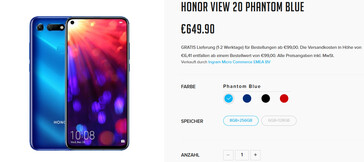 Honor View 20 Phantom Blue