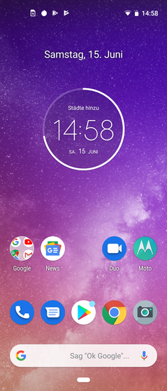 Moto One Vision Homescreen