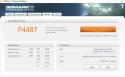 3DMark 11 nach Stresstest @ IdeaPad S540 Intel Core i5-8265U