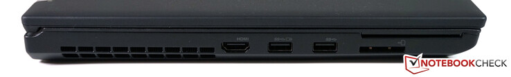 Links: HDMI 2.0, 2x USB-A 3.1 Gen1, 4-in-1 SD-Leser, SmartCard-Leser