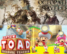 Spielecharts: Octopath Traveler und Captain Toad: Treasure Tracker auf der Nintendo Switch top.