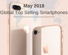 Apple iPhone 8 und Samsung Galaxy S9 Plus im Mai die Topseller.