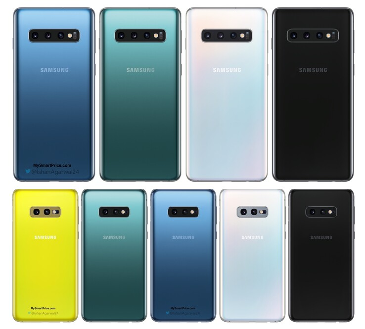 Galaxy S10 Farben