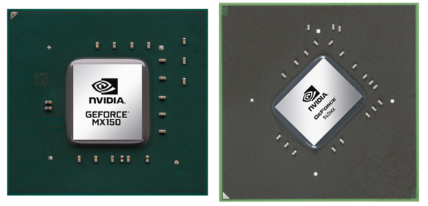 Nvidia GeForce MX150 und Nvidia GeForce 940MX