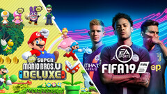 Games: FIFA 19 und New Super Mario Bros die Topseller Europas in H1/2019.
