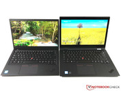 X1 Carbon (links) vs. X1 Yoga (rechts)