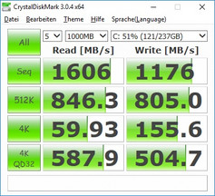 Crystaldiskmark 3: SSD-Test