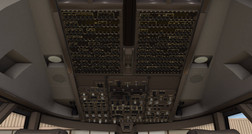Standard X-Plane 11 Boeing 747 Overhead-Panel (Quelle: Laminar Research)