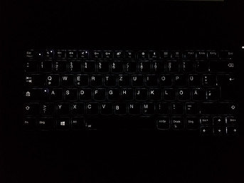 Backlight-Tastatur