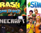 Top Games-Charts KW 29: Crash Bandicoot, Minecraft und Sims 4 sind top