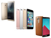 Im Vergleich: Apple iPhone 6S Plus vs. Huawei Mate S vs. LG G4