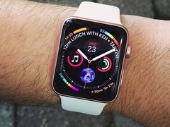 Apple Watch Series 4: Schicker Watchface-Entwurf als Ziffernblatt.