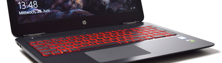 test hp omen 15-ax213ng  7700hq  gtx 1050 ti  full-hd  laptop