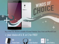 Oppo Find 7a und Find 7: Winds of Choice Promotion mit Accessories Bundle