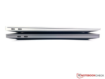 MacBook Pro 13 (unten) vs. MacBook Air (oben)