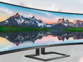 Philips 498P9 Brilliance: Riesiger 49-Zoll-Curved-Monitor mit 5.120 x 1.440 Pixeln.
