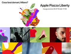 Apple Piazza Liberty eröffnet Donnerstag in Mailand.