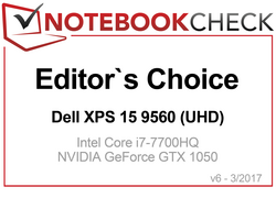 Editors Choice Award im April 2017: Dell XPS 15 9560 (UHD)