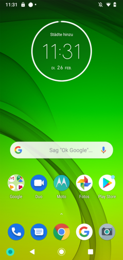 Homescreen Moto G7 Power