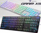 Tesoro Gram XS: Ultraflache RGB-Gaming-Tastatur mit mechanischen Chiclet-Style-Switches.