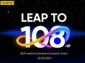 Realme 8: Einladung zum 108 MP Camera Innovation Event im Livestream am 2. März.