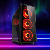 Sharkoon TG4 ATX Midi Tower Red