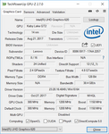 GPU-Z Intel UHD Graphics 620