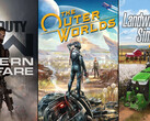 Spielecharts: Call of Duty Modern Warfare vs. The Outer Worlds, LS19 walzt PC platt.
