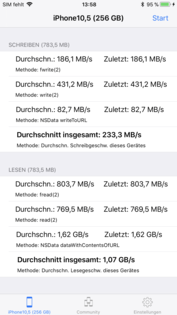 DiskBench: 256-GB-Variante