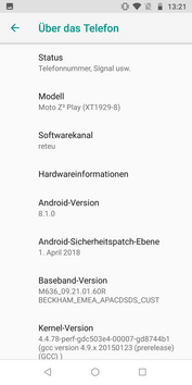 Software Motorola Moto Z3 Play