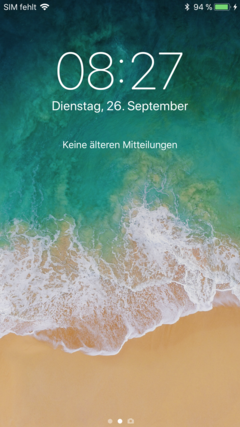 Notification Center ist gleich Lockscreen