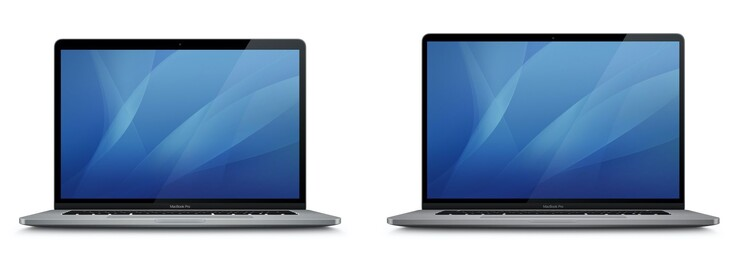 15 Zoll MacBook Pro (links) vs 16 Zoll MacBook Pro (rechts)